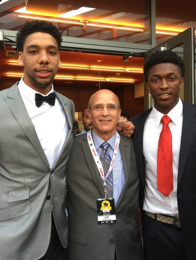 Allocco with Okafor and Johnson