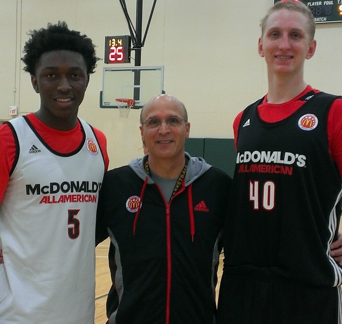 Coach Allocco with California Great Ones-Stanley Johnson and Thomas Welsh