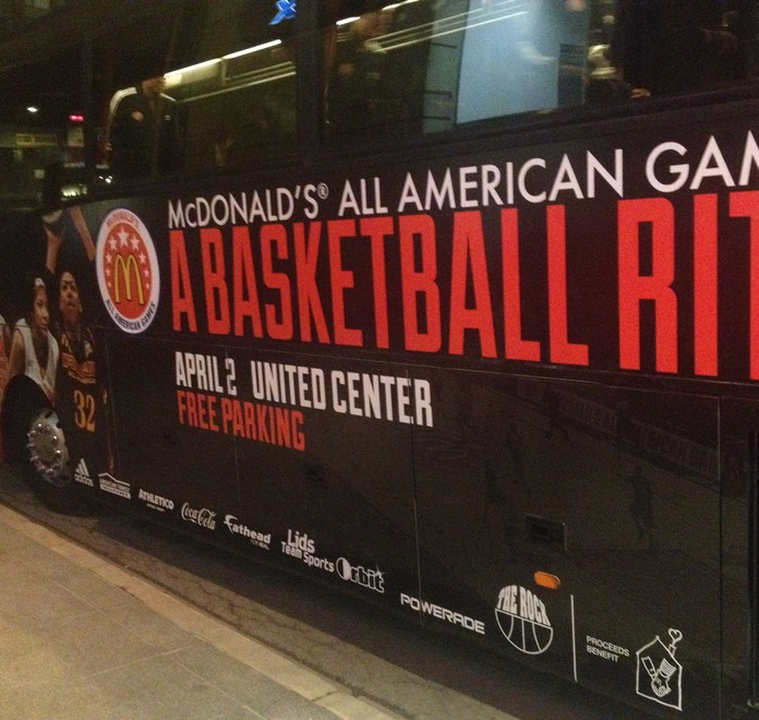 McDonald's All-American Game Bus