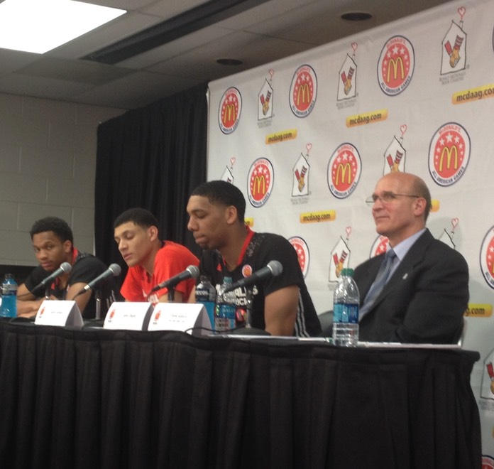 Post Game Press Conference with Okafor (Duke), Jackson (North Carolina), Vaughn (UNLV)