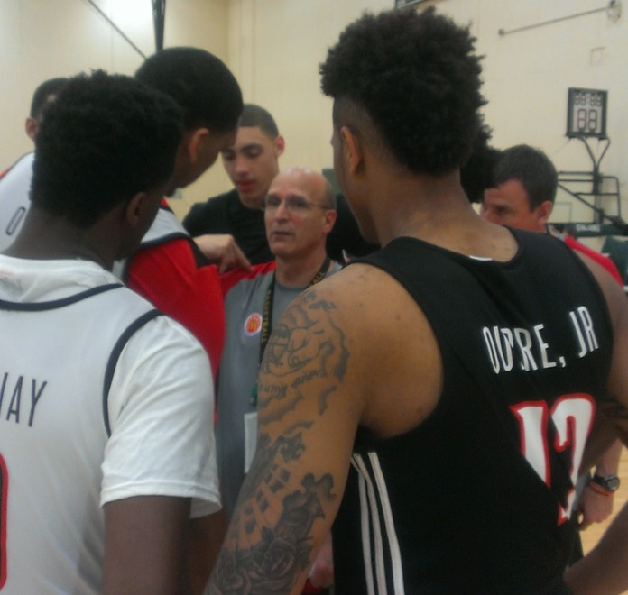 Post Practice Huddle with the West Team