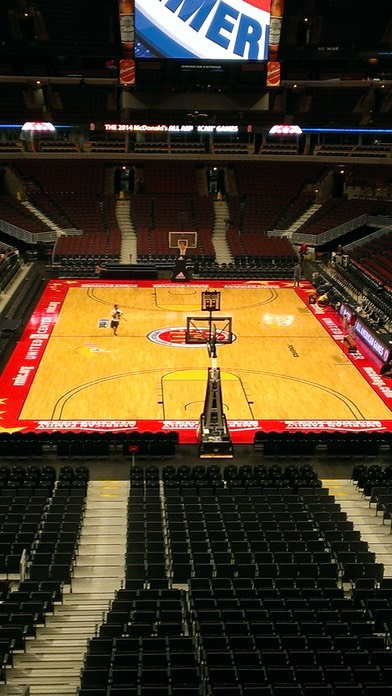 United Center Court Awaits the All-Americans