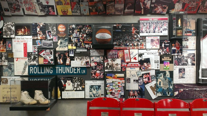 Chicago Bulls Office-Wall of History